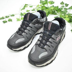 Sketchers black gray athletic sneakers shoes 11.5